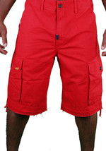 LRG Lifted Research Group Sharks Landing Red Walk Cargo Shorts NWT