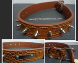 Brown spike dog collar 25 inch collage thumb155 crop
