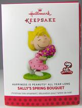 SALLY'S SPRING BOUQUET 2014 Hallmark Christmas Holiday Ornament NIB Peanuts - $9.50