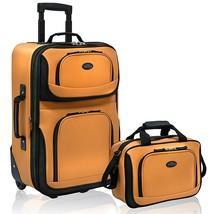 Travelers Choice US Traveler Rio Carry-On Luggage Set, 2-Pcs Mustard/Orange - $116.39