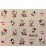 BANG STORE Nail Art Water Decals Charmmy Kitty Hello Baby Cute Kitten  - $2.11