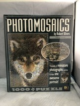 Photomosaics 1000 Piece Grey Wolf Puzzle By Robert Silvers (Factory Sealed) - $17.50