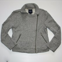Gap Kids Urban Uniform Knit Moto Grey Jacket size S 6 7 - $16.99