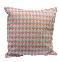 "Kaemingk 15.75"" Capri Boulevard Pink and Blue Diamond Motif Throw Pillow - ₹1,037.56 INR"