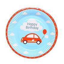 Set Of 20 Cartoon Car Birthday Party Plates/Dishes - $19.60