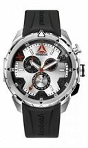 Reebok RD-IMP-G6-S1IB-1B Men's Impact Stainless Steel Chronograph Watch NWOT