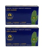 Pack of 2 Sunset Powder Free Vinyl Gloves - 2x100 Count - XLarge - $29.69