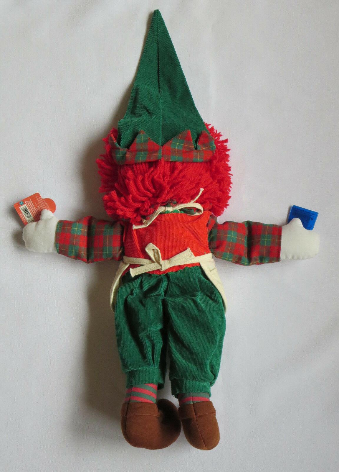 RAGGEDY ANN Plush Doll Elf Applause Apron Christmas Theme Hat Slippers
