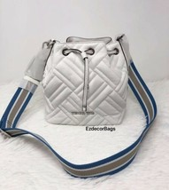 NWT Michael Kors XS Bucket Leather Crossbody Bag  (White) *FREE SHIPPING* - $108.00