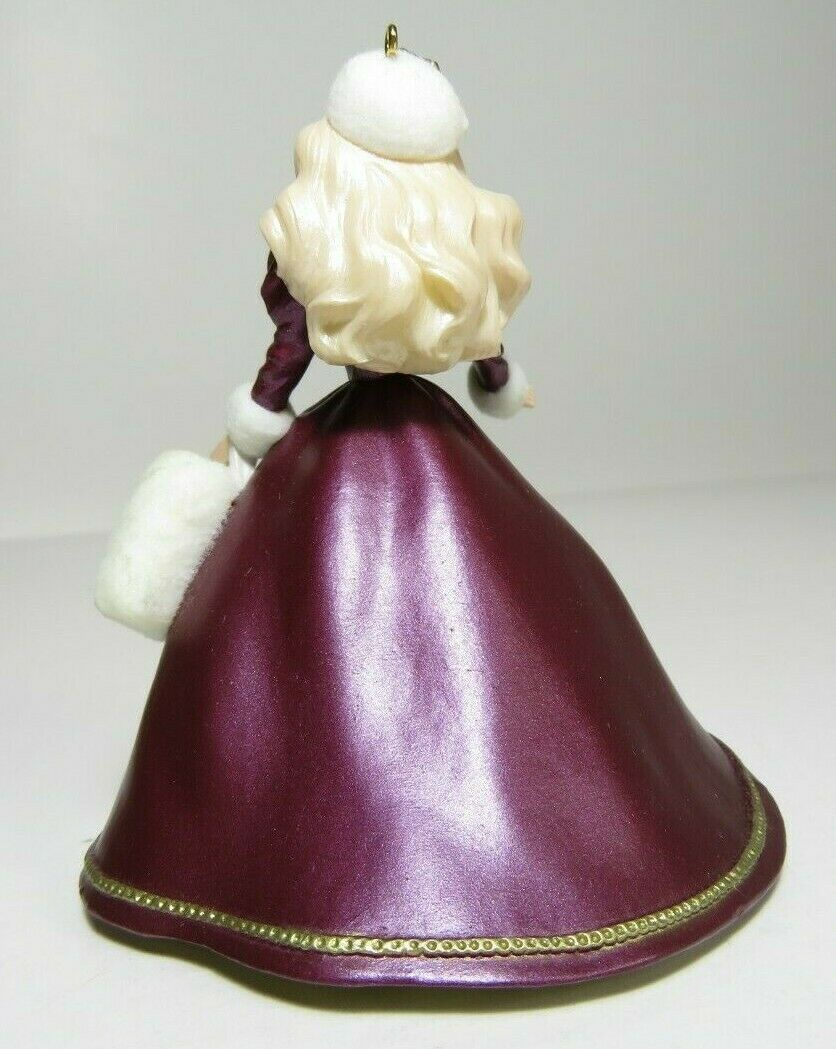 1996 Collectors Series Holiday Barbie Hallmark Keepsake Ornament Christmas #4