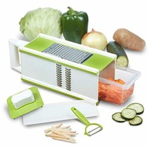 CHEFHQ 5-in-1 Box Grater and Vegetable Peeler - Handheld Large Fine Juli... - $24.17