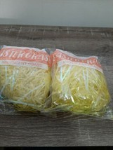 (2)  Easter Basket Grass Iridescent  Yellow. New  - $8.77