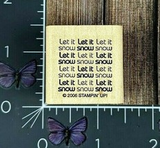 Stampin' Up! Let It Snow Rubber Stamp 2006 Winter Glad Tidings Wood Moun... - $2.72