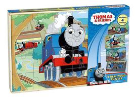 Thomas The Tank Engine Wood Puzzles (4-Pack) NEW 2011 Cardnial Industries - $24.99