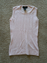 EXPRESS Womens Size Large Pink Drop Neck Sleeveless Casual Blouse Stretc... - $17.99