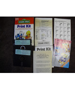 Sesame Street Print Kit  Commodore 64  / Atari  computers - $27.71