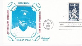 BABE RUTH #2046 CHICAGO, IL JULY 6, 1983 CENTENNIAL COVERS CACHET D-261 - $2.64