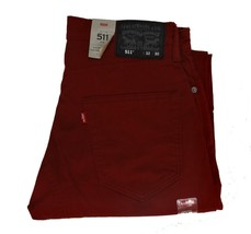 Levi's Men's 511 Slim Fit Commuter Pants // Cordovan Red #0080 NWT 30 32 33 34  - $49.00