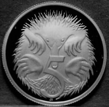 Australia 5 Cents, 2005 Cameo Proof~Only 33,520 Minted~Echidna~Free Ship... - $7.63