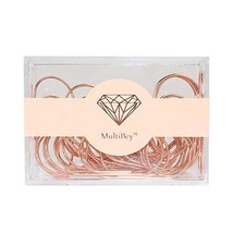 MultiBey Large Paper Clips Rose Gold Jumbo Size Paperclips Bookmark Reusable Met