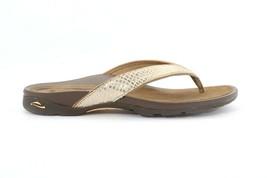 Abeo Alea Slides Gold Women's Size US 10 Neutral Footbed ( EPB )3797 - $70.00