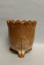 BUTTERSCOTCH MILK GLASS 3 LEG SPOONER VICTORIAN - $39.95