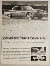 1961 Print Ad Pontiac Tempest 4-Cylinder Compact Cars - $16.81
