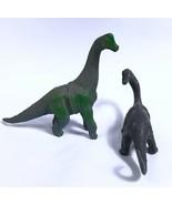 """Dinosaur 5"""" APATOSAURUS BRACHIOSAURUS Figure Lot of 2 -  2002 TM 1301 P1 P3 - $12.73"""