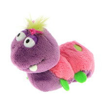 MagNICI Caterpilla Fuchsia Stuffed Toy Animal Magnet in Paws 5 inches - $11.00
