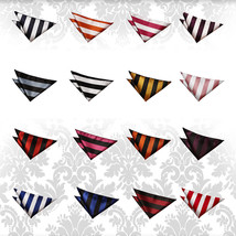 Men's Striped Woven Evening Wedding Work Handkerchief Pocket Squares - $4.99