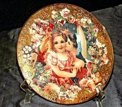 "1992 ""Dearest Kiss"" Commemorative Plate by John Grossman AA20-CP2311 Vintage Rom image 1"