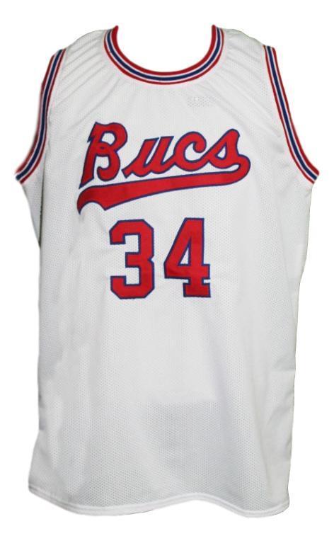 Doug moe  34 new orleans buccaneers aba basketball jersey white   1