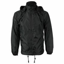Men's Water Resistant Polar Fleece Lined Hooded Windbreaker Rain Jacket image 2