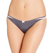 B.Tempt'd Womens 2-Pack Bow Sheer Back Thong Panty in Iron, Medium - $17.81