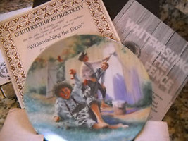 Edwin M Knowles Mark Twain's Tom Sawyer White Washing The Fence Collecto... - $17.64