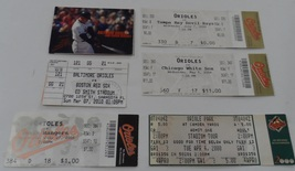 BALTIMORE ORIOLES 6 PC TICKET STUBS Devils Rangers White & Red Sox 2000 ... - $12.50