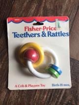 Vintage Fisher Price Baby Teether RING 1984 0630 Crib & Playpen Toy - $30.00