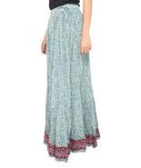 Blue Flower Jaipuri Skirt - $25.75