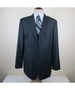 Calvin Klein Blazer Sport Coat Jacket size 46R Gray 100% Wool 2 Button S... - $28.88