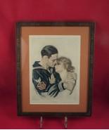 Framed 1918 Print from Cosmopolitan Magazine- MY HERO-WWI Navy - $75.00