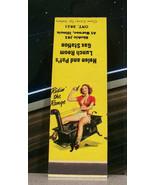 Vintage Matchbook Cover Circa 1950 Gurnee Illinois Skokie Gas Pin Up Cow... - $46.74
