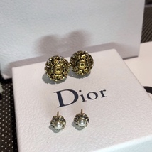 Authentic Christian Dior 2019 CRYSTAL STAR BEADS Double Pearl Tribales Earrings image 14