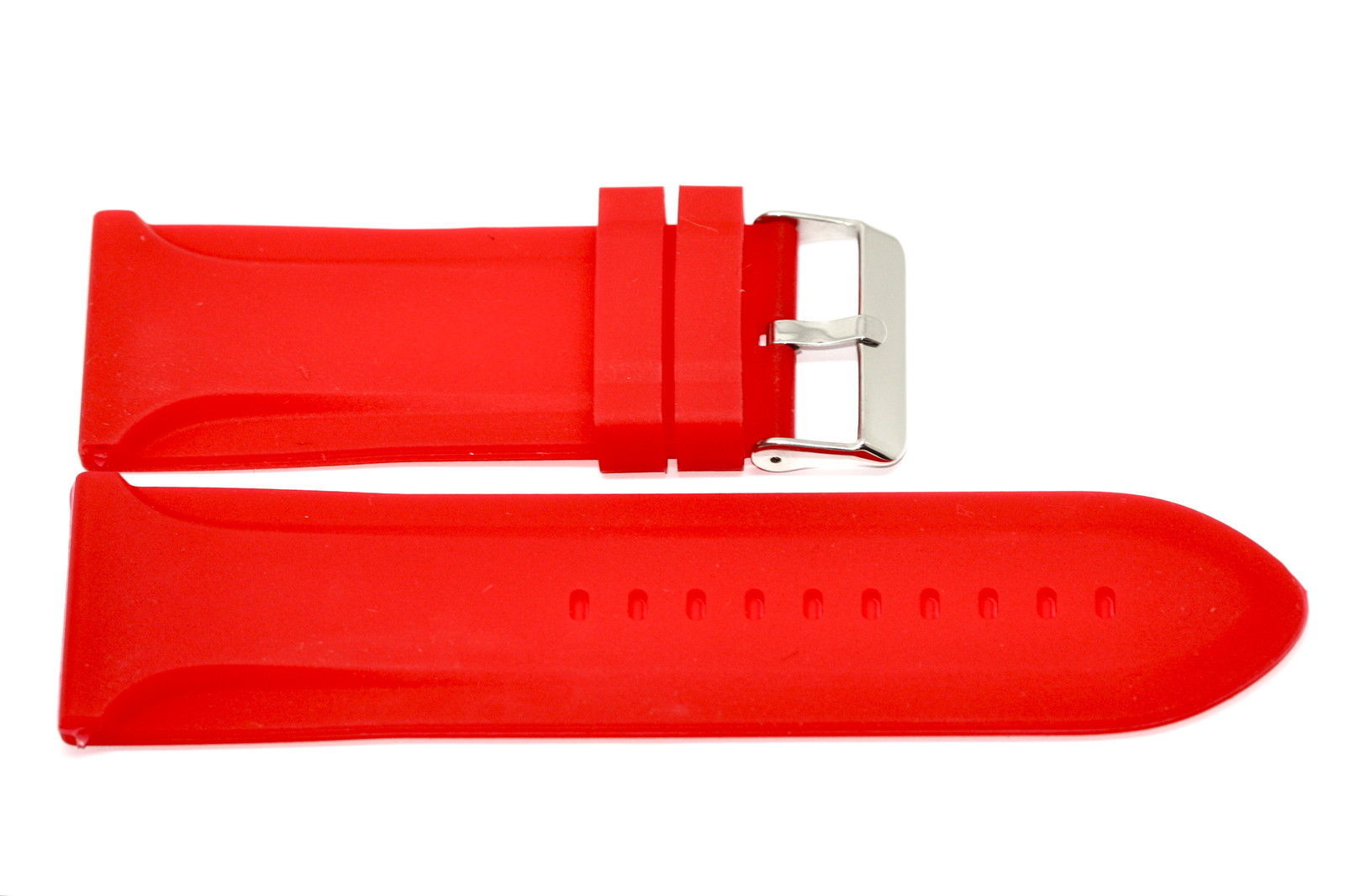 Primary image for 30MM RED SOFT RUBBER SILICONE JELLY COMPOSITE SPORT DIVER WATCH BAND STRAP