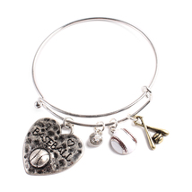 Baseball Charm Bracelet - £10.54 GBP