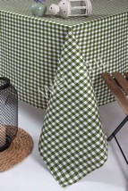 "Green Plaid Tablecloth,Cotton Duck 45""x63"" inch for Restaurant,Home Dini... - €25,42 EUR"