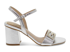 Heeled sandal Guess FL6MC2 A in silver laminate - Women's Shoes - $124.83