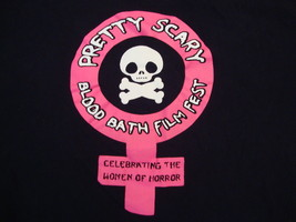Pretty Scary Film Fest Celebrating Women of Horror Movie Promo T Shirt XXL - $17.81
