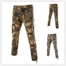 Asian Size 28-38 Quality Cotton Fashion Men Cargo Pants Multi Pocket Arm... - $41.82