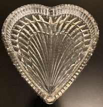 "Waterford Crystal Glass ""Triple Heart"" Shaped Vanity Tray - 7.5"" Length ... - $29.70"