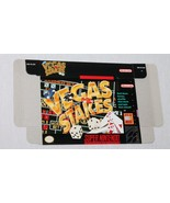 Vegas Stakes Super Nintendo SNES Game Box ONLY Genuine Vintage Official - $4.69